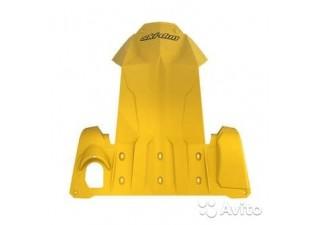 Защита днища для снегохода (желтая)